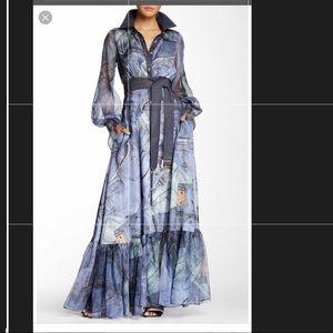 T.O.V los Angelas Jean printed dress sz 6